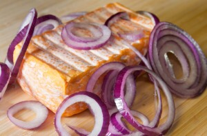 Limburger cheese with onions