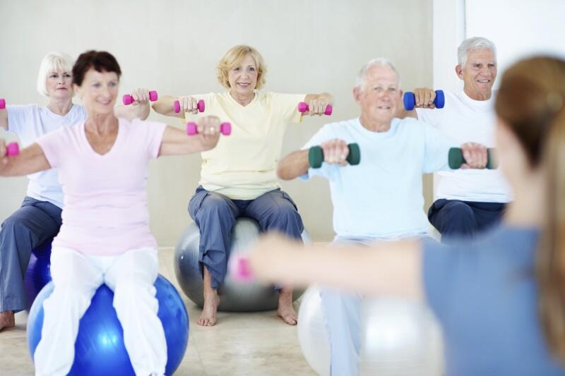 Enjoying some leisurely exercise