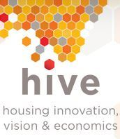 Logo for the HIVE (housing innovation, vision and economics conference)