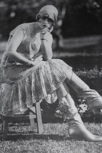 Flapper girl in a dress
