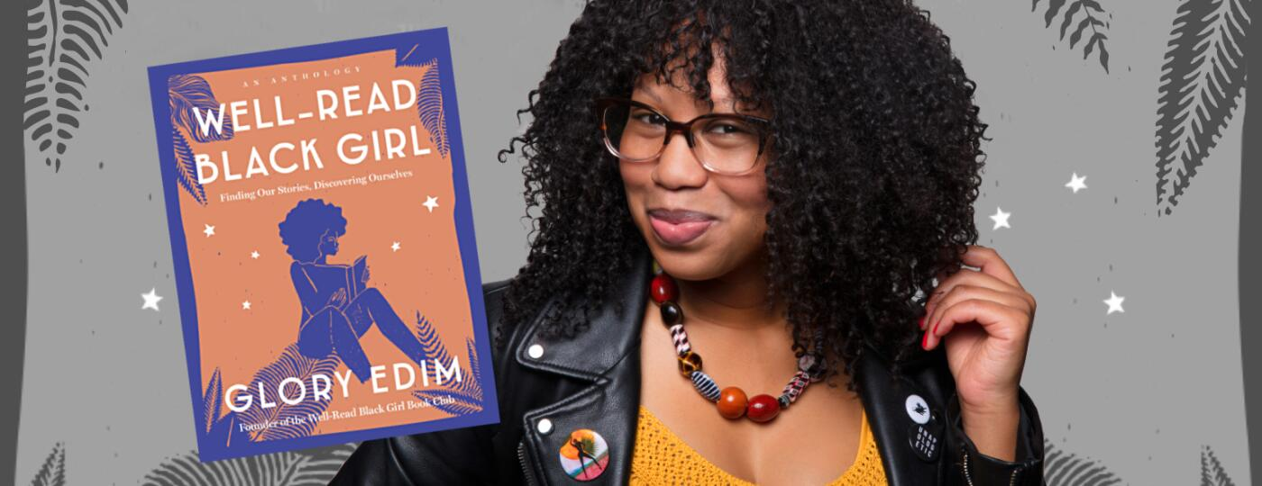 Glory Edim with her book titled Well Read Black Girl
