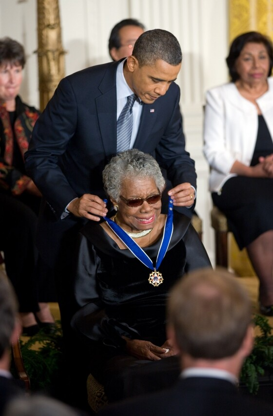 Angelou-Medal of Freedom