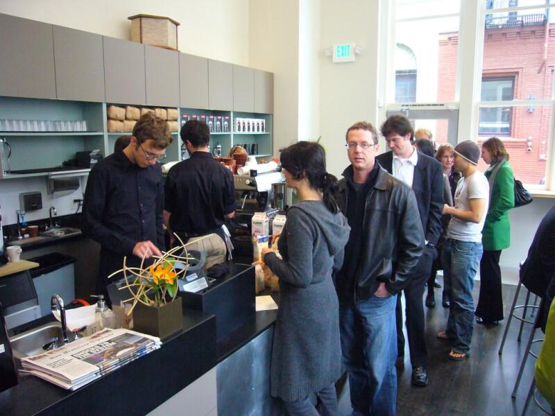 At Blue Bottle Coffee, San Francisco