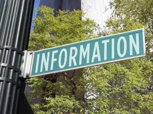Information street sign