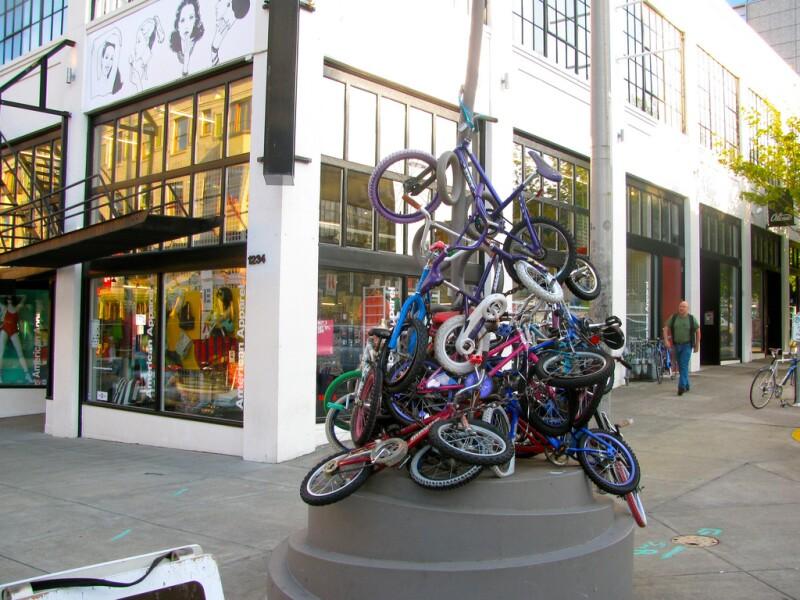 Bike sculpture in SW Portland