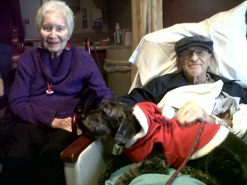Mom and Dad w jackson christmas at hospital