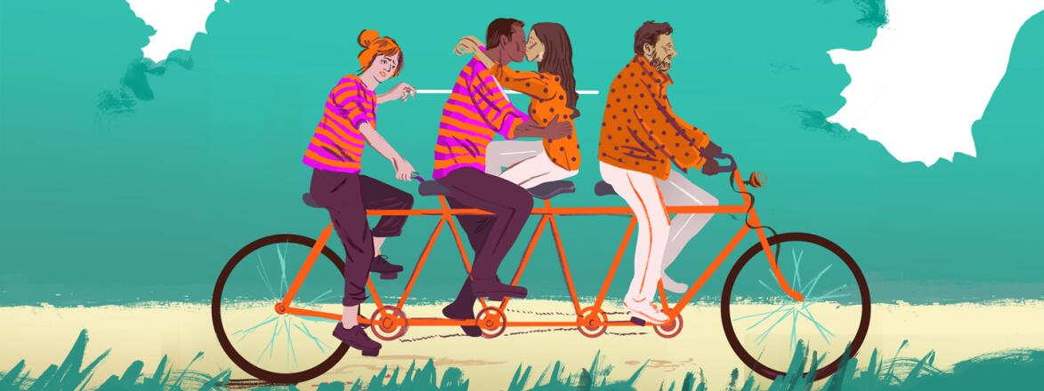 illustration_of_2_couples_on_long_bike_one_pair_kissing_affair_story_by_Christine_Rösch_1440x560.jpg