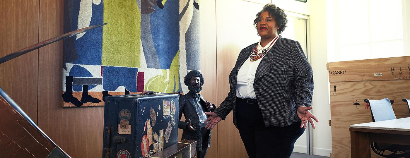 Tammi Lawson at the Schomburg Center for Research in Black Culture