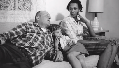 Richard and Mildred Loving with their daughter Peggy - Credit: HBO