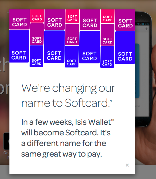 Isis financial app changed to Softcard