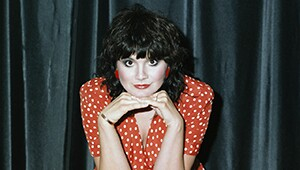 Linda Ronstadt in Red Polka Dot Dress