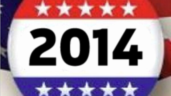 Campaign Button - Elections 2014 Logo Symbol