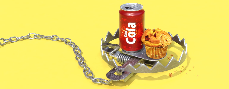 aarp, sisters, diet coke, muffin