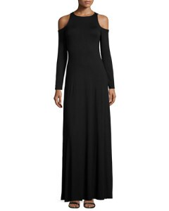 Rachel Pally Long Sleeve Cold Shoulder Maxi-Dress