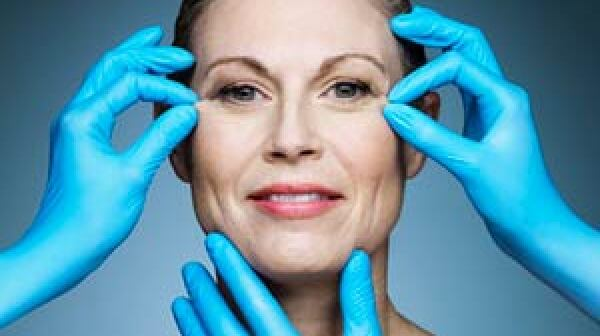 Older woman has cosmetic surgery