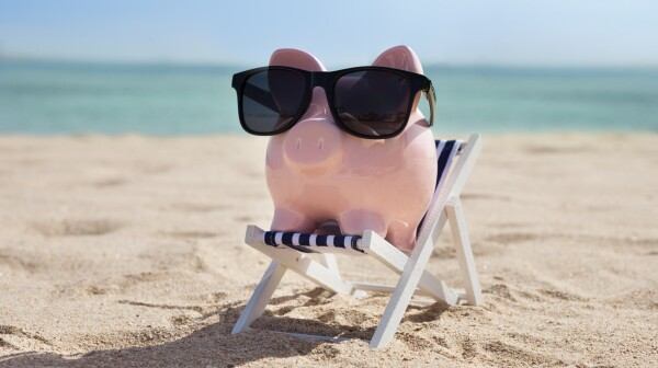 Piggy Bank With Sunglasses