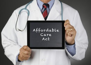 Affordable Care Act on a tablet screen