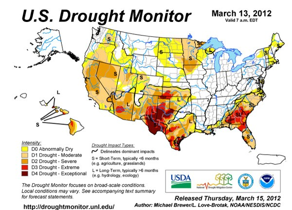 U.S. Drought Monitor - March 2012