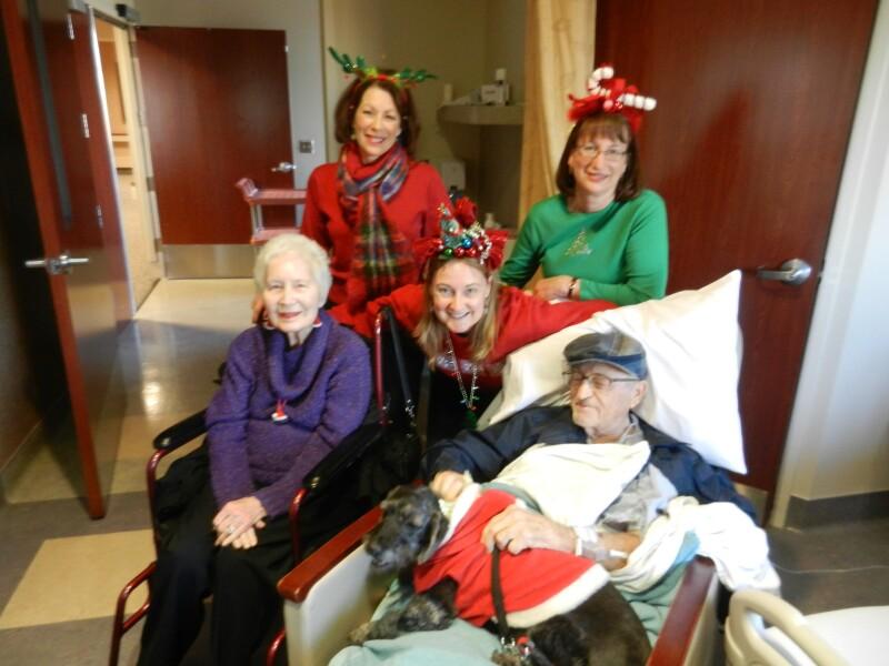 mom dad amy susie linda jackson christmas in hospital