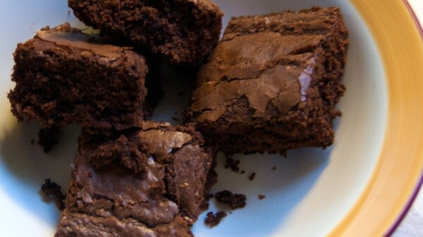 Melinda made some brownies this afternoon. Nom Nom Nom!