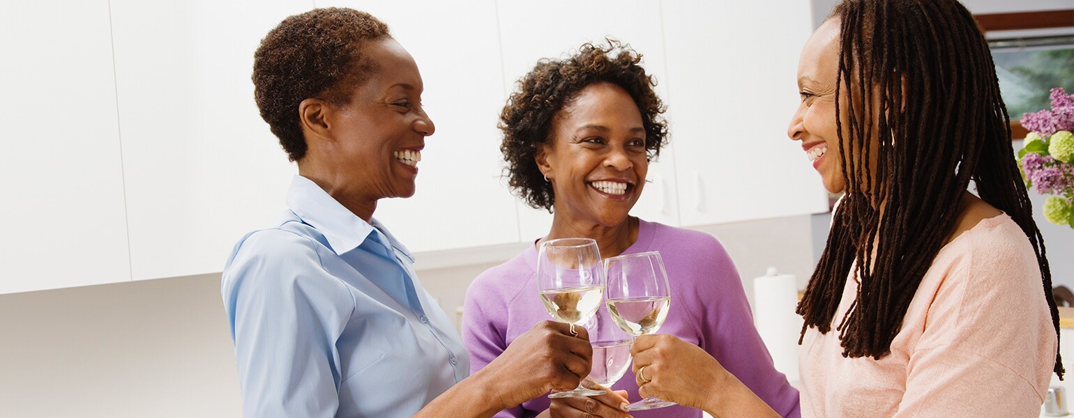 image of ladies drinking wine