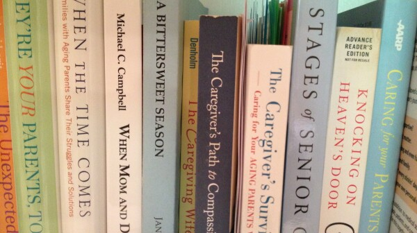 photo of caregiving books