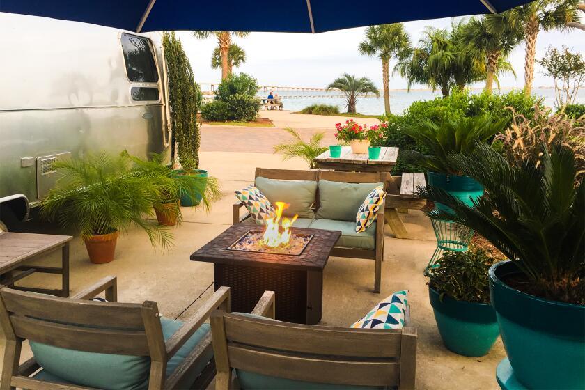 Airstream getaway in Navarre Beach, Santa Rosa County, Florida.