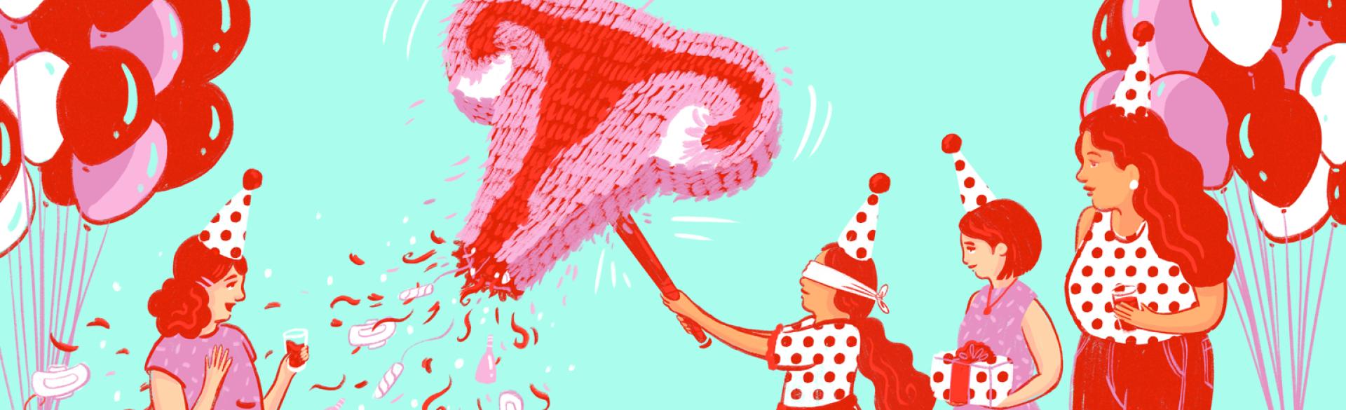 Period Party, womandhood, aarp, girlfriend, parenting