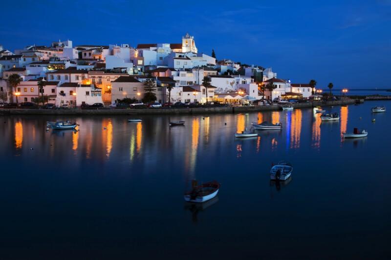 Ferragudo - a typical city of Algarve.