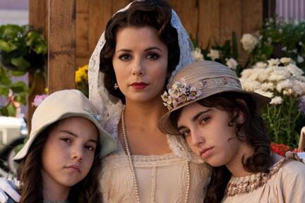 Eva Longoria (center) as Tulita in ``For Greater Glory.''