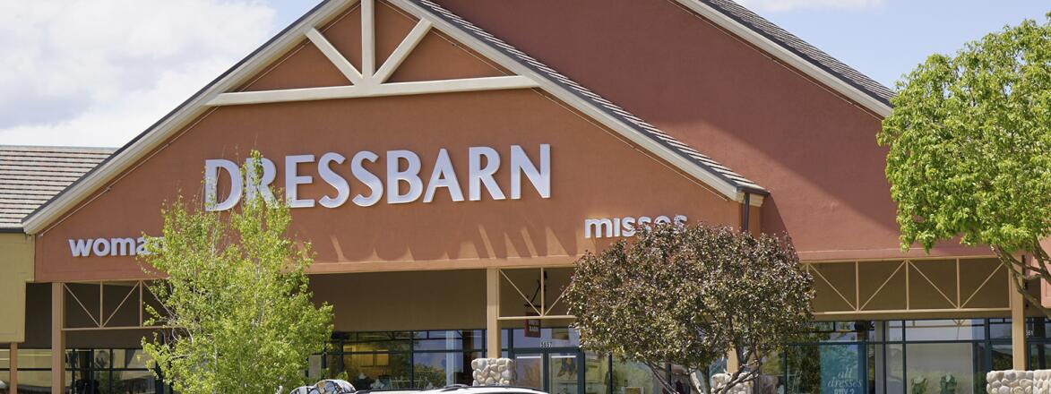 Storefront of Dressbarn before it closed.