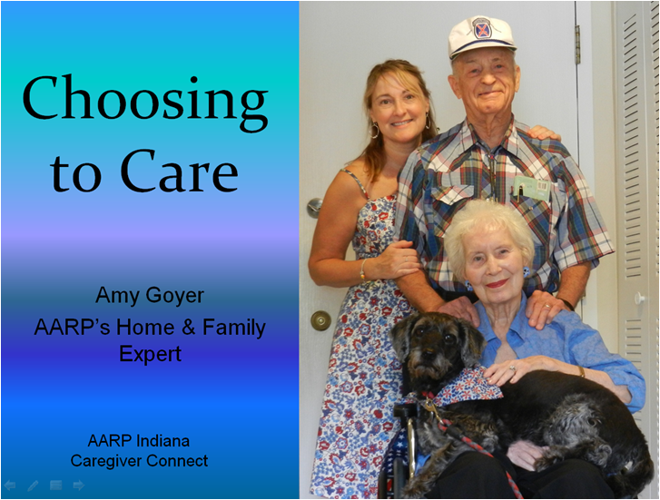 Amy Goyer shares caregiving lessons learned at AARP Indiana Caregiver Connect Forums.