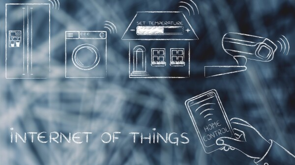 smart home objects controlled by smartphone, Internet of things