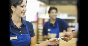 Using debit card at retail store