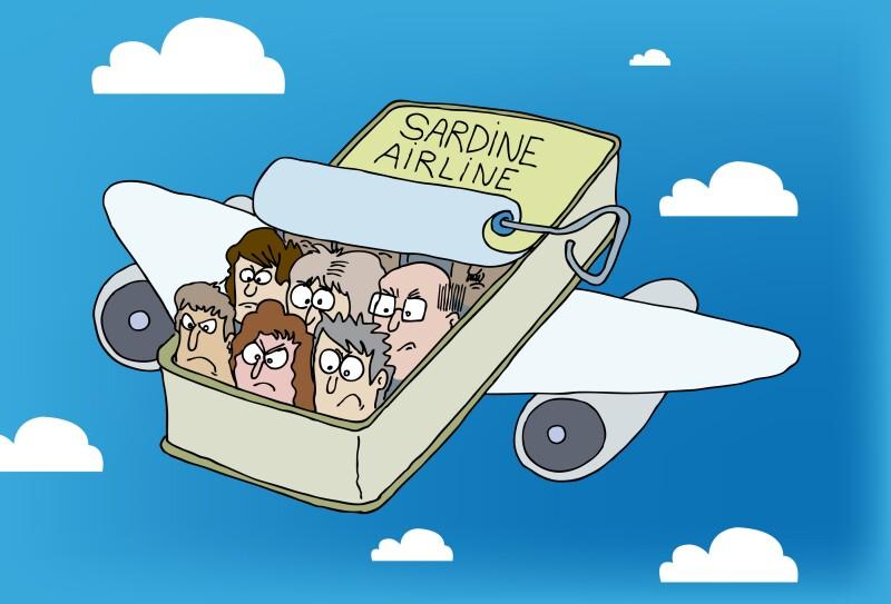 Airplane, Unhappy Passengers, Sardine Can