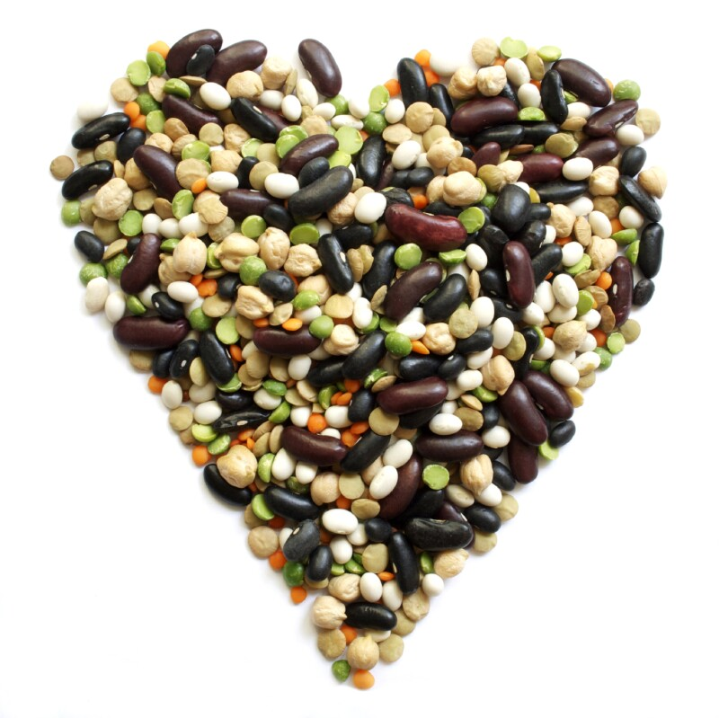 Heart-Shaped Dry Mixed Beans