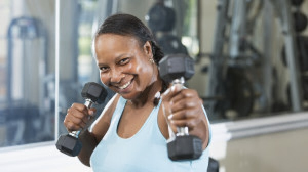 Mature woman at the gym