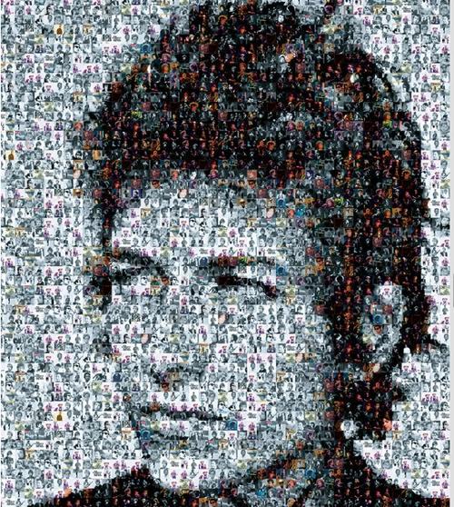 Bob Dylan photomosaic