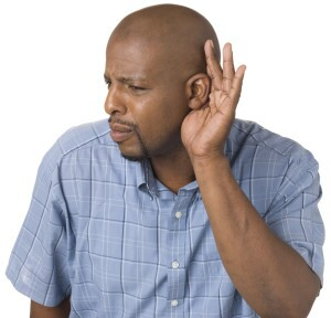 Man struggling to hear