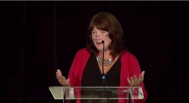 Susan Reinhard speaks at an AARP forum in Washington, DC