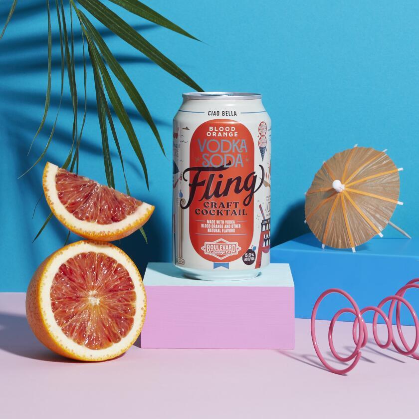 Fling Craft Cocktail Blood Orange Vodka Soda