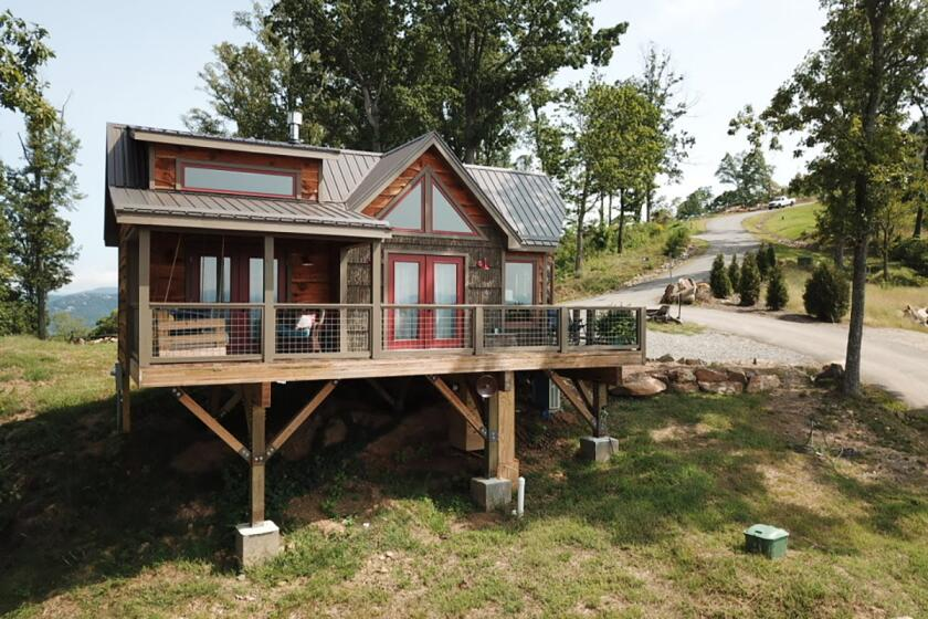The Perch, a property belonging to Treehouses of Serenity in Ashville, NC.