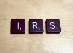 IRS Scrabble pieces