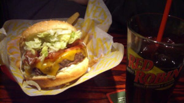 Red Robin monster burger