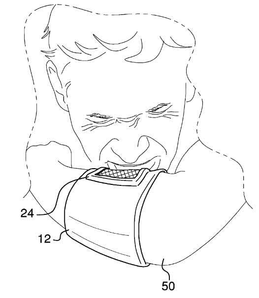 Sneeze catcher patent drawing
