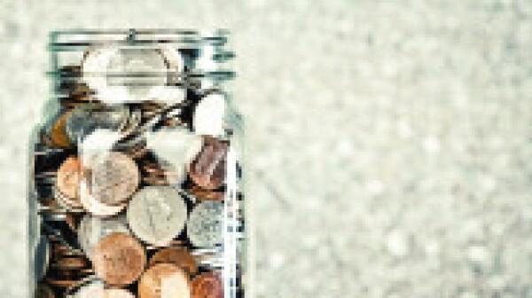 Coin jar filled up