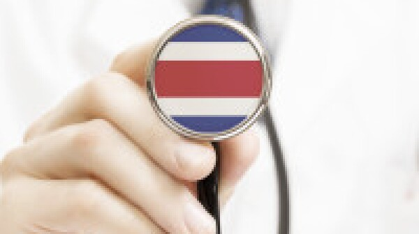 National flag on stethoscope conceptual series - Costa Rica