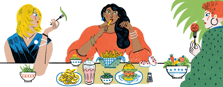 girlfriend, friends, aarp, diet