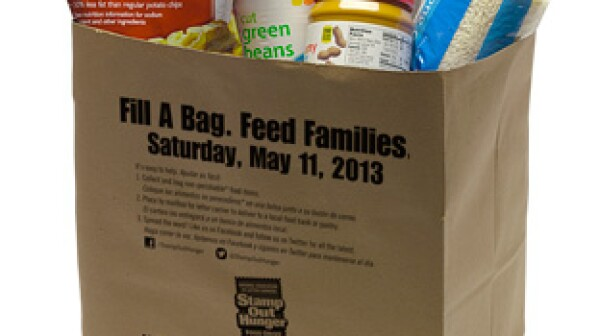 Stamp out Hunger grocery bag