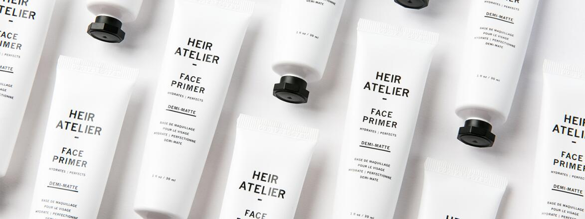 closeup of heir atelier brand face primer